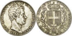 World Coins - Coin, ITALIAN STATES, SARDINIA, Carlo Alberto, 5 Lire, 1842, Genoa,