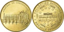World Coins - France, Token, Touristic token, Chenonceau -  Chateau, Arts & Culture, 2001