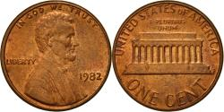 Us Coins - Coin, United States, Lincoln Cent, Cent, 1982, U.S. Mint, Philadelphia