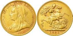 World Coins - Coin, Australia, Victoria, Sovereign, 1894, Melbourne, , Gold, KM:13