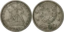World Coins - Portugal, 5 Escudos, 1967, , Copper-nickel, KM:591