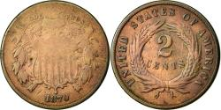 Us Coins - Coin, United States, 2 Cents, 1870, U.S. Mint, Philadelphia,