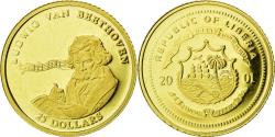 World Coins - Coin, Liberia, Beethoven, 25 Dollars, 2001, , Gold