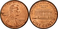 Us Coins - Coin, United States, Lincoln Cent, Cent, 2000, U.S. Mint, Philadelphia