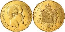 Coin, France, Napoleon III, Napoléon III, 100 Francs, 1858, Paris,