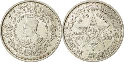 World Coins - Coin, Morocco, Mohammed V, 500 Francs, 1956, Paris, AU(55-58), Silver, KM:54