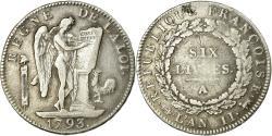 World Coins - Coin, France, Écu de 6 livres françoise, 6 Livres, 1793, Paris,