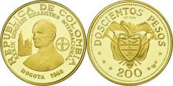 World Coins - Coin, Colombia, 200 Pesos, 1968, Bogota, , Gold, KM:232