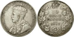 World Coins - Coin, Canada, George V, 50 Cents, 1917, Royal Canadian Mint, Ottawa,