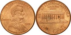 Us Coins - Coin, United States, Lincoln Cent, Cent, 2001, U.S. Mint, Philadelphia