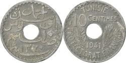 World Coins - TUNISIA, 10 Centimes, 1941, Paris, KM #267, , Zinc, 2.49