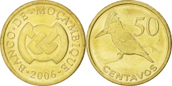 World Coins - MOZAMBIQUE, 50 Centavos, 2006, KM #136, , Brass Plated Steel, 23, 5.78