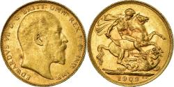 World Coins - Coin, Australia, Edward VII, Sovereign, 1909, Perth, , Gold, KM:15