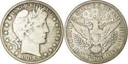 Us Coins - Coin, United States, Barber Half Dollar, Half Dollar, 1908, U.S. Mint, New