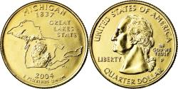 Us Coins - Coin, United States, Michigan, Quarter, 2004, U.S. Mint, Philadelphia, golden