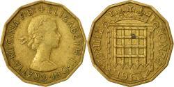 World Coins - Coin, Great Britain, Elizabeth II, 3 Pence, 1961, , Nickel-brass