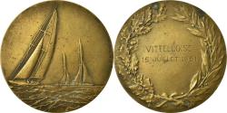 World Coins - France, Medal, Course de Voile, La Vittelloise, Shipping, 1951, Fraisse