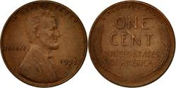 Us Coins - Coin, United States, Lincoln Cent, Cent, 1953, U.S. Mint, Philadelphia
