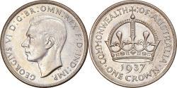 World Coins - Coin, Australia, George VI, Crown, 1937, Melbourne, , Silver, KM:34