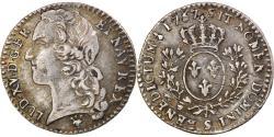 World Coins - Coin, France, Louis XV, 1/10 Écu au bandeau, 12 Sols, 1/10 ECU, 1767, Reims
