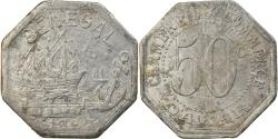 World Coins - Coin, Senegal, Chambre de Commerce Dakar, 50 Centimes, 1920, Rare,