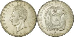 World Coins - Coin, Ecuador, 5 Sucres, Cinco, 1944, Mexico City, Mexico, , Silver