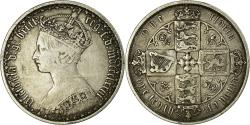 World Coins - Coin, Great Britain, Victoria, Florin, Two Shillings, 1873, London,