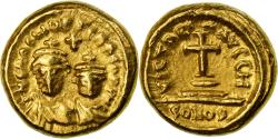 Ancient Coins - Coin, Heraclius, with Heraclius Constantine, Solidus, 620-621, Carthage