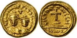 Coin, Heraclius, with Heraclius Constantine, Solidus, 620-621, Carthage