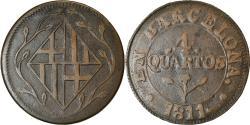 World Coins - Coin, Spain, BARCELONA, Joseph (Jose) Napolean, 4 Quartos, 1811, Barcelona