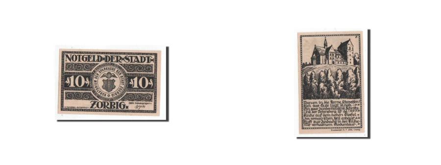 World Coins - Germany, Zörbig, 10 Pfennig, Eglise, Undated, UNC(65-70), Mehl:1475.2
