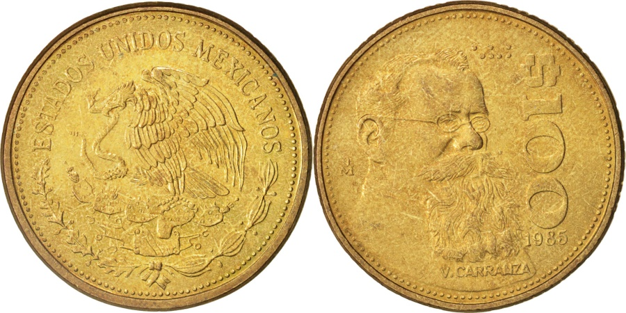 World Coins - Mexico, 100 Pesos, 1985, Mexico City, , Aluminum-Bronze, KM:493