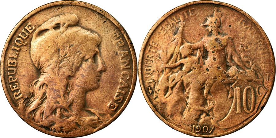 World Coins - Coin, France, Dupuis, 10 Centimes, 1907, VF(30-35), Bronze, KM:843, Gadoury:277