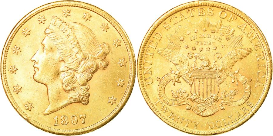 US Coins - Coin, United States, Liberty Head, $20, Double Eagle, 1897, U.S. Mint