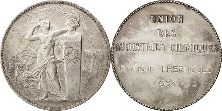 World Coins - FRANCE, Business & industry, French Fifth Republic, Medal, 1964, ,...