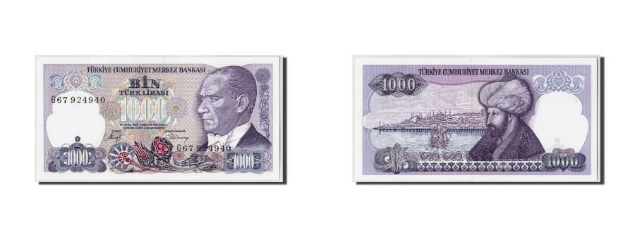 World Coins - Turkey, 1000 Lira, L.1970 (1986), Undated, KM:196, UNC(65-70)
