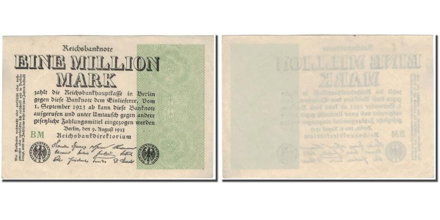 World Coins - Banknote, Germany, 1 Million Mark, 1923, KM:102d, UNC(63)
