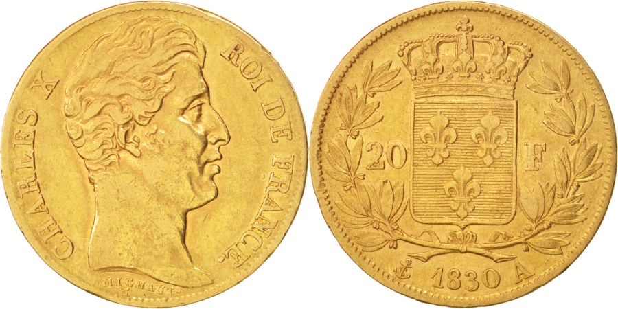World Coins - France, Charles X, 20 Francs, 1830, Paris, , Gold, KM:726.1