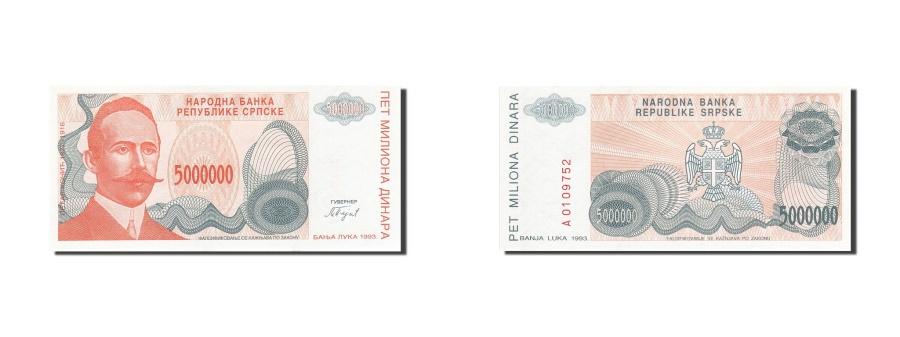 World Coins - Bosnia - Herzegovina, 5,000,000 Dinara, 1993, KM:153a, 1993, UNC(63)