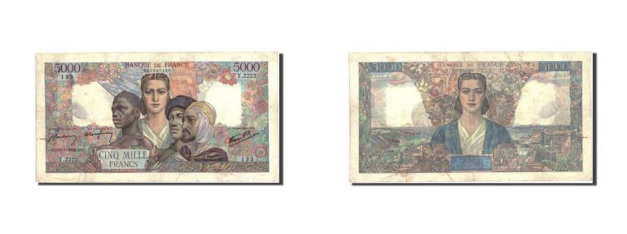 World Coins - France, 5000 Francs, 5 000 F 1942-1947 ''Empire Français'', 1946, KM:103c