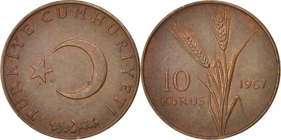 World Coins - Turkey, 10 Kurus, 1967, , Bronze, KM:891.1