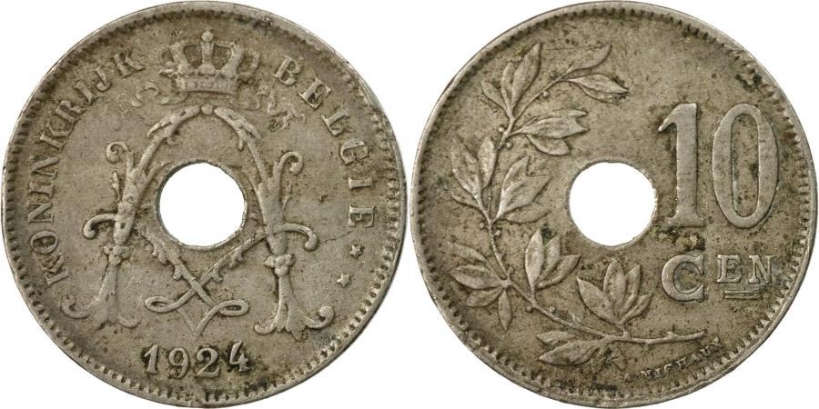 World Coins - Coin, Belgium, 10 Centimes, 1924, , Copper-nickel, KM:86