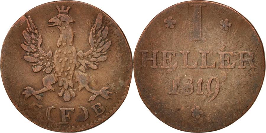 World Coins - German States, FRANKFURT AM MAIN, Heller, 1819, Frankfurt,