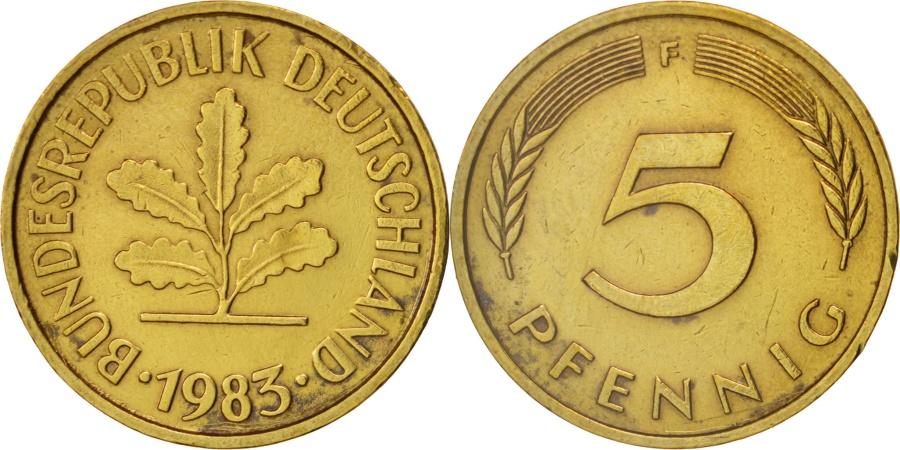 World Coins - GERMANY - FEDERAL REPUBLIC, 5 Pfennig, 1983, Stuttgart, , KM:107