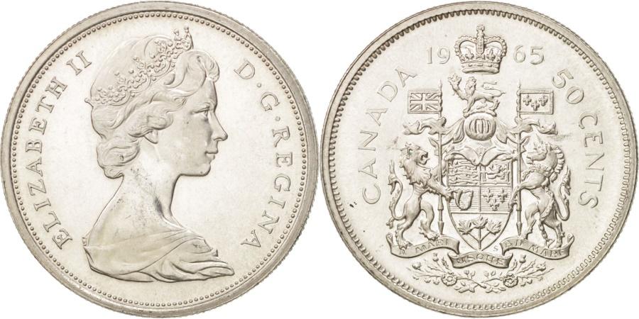 World Coins - Canada, Elizabeth II, 50 Cents, 1965, Ottawa, , Silver, KM:63