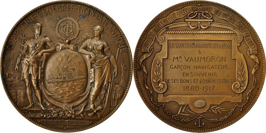 France Medal Compagnie Gnrale Transatlantique 1917 Pagnier