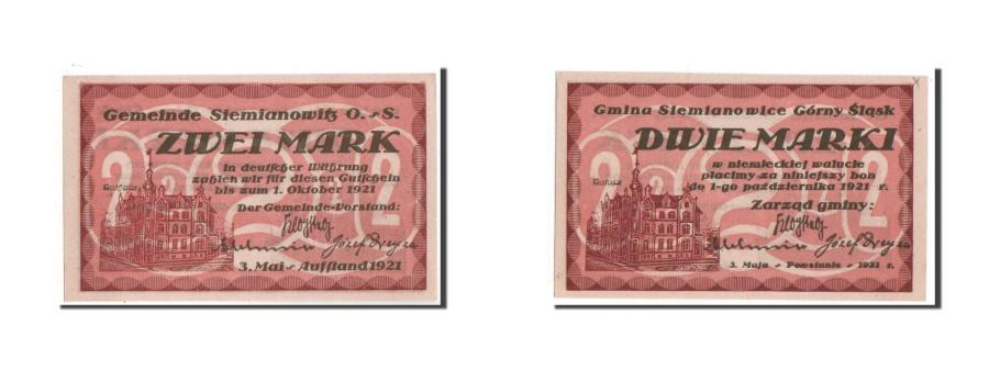 World Coins - Germany, Oberschlesien, 2 Mark, 1921, UNC(63), Mehl #1226.1a