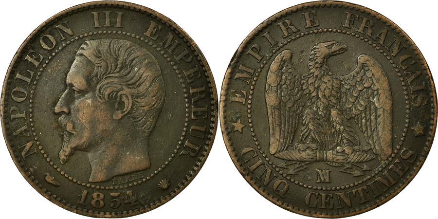 World Coins - Coin, France, Napoleon III, Napoléon III, 5 Centimes, 1854, Marseille