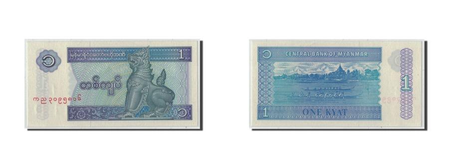 World Coins - Myanmar, 1 Kyat, KM:69, UNC(63)