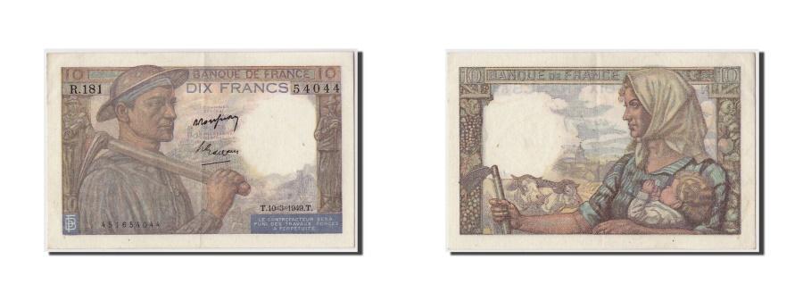 World Coins - France, 10 Francs 1941-1949 ''Mineur'', 1949, KM:99f, 1949-03-10, UNC(60-62)